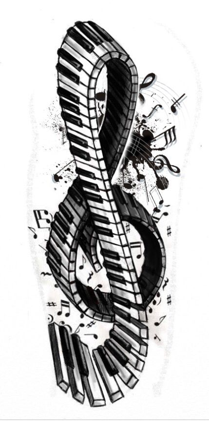 g-clef-black-and-white-notes